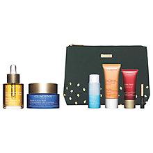 Buy Clarins Face Treatment Oil and Multi Active Night Cream with Gift Online at johnlewis.com