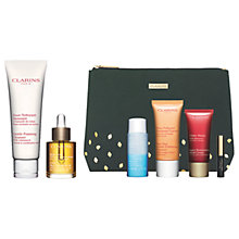 Buy Clarins Foaming Cleanser and Face Treatment Oil with Gift Online at johnlewis.com