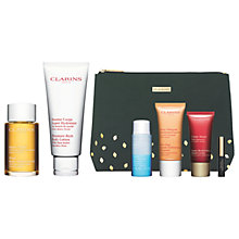 Buy Clarins Body Treatment Oil and Body Lotion with Gift Online at johnlewis.com