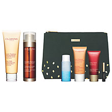Buy Clarins Cleansing Gel and Double Serum with Gift Online at johnlewis.com