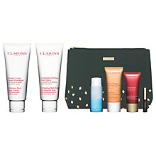 Buy Clarins Moisure-Rich Body Lotion and Body Scrub with Gift Online at johnlewis.com