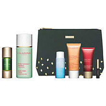 Buy Clarins Skincare Boosters, Detox and Hydra-Matte Lotion with Gift Online at johnlewis.com