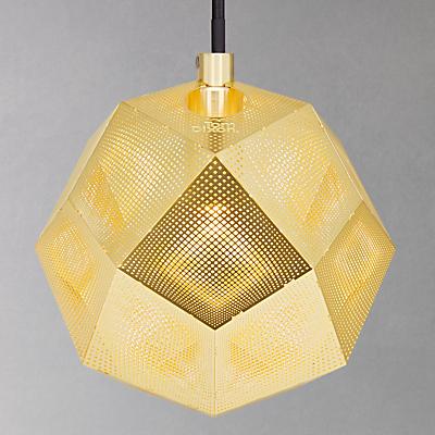 Tom Dixon Etch Mini Pendant Ceiling Light, Brass