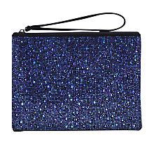 Buy Carvela Glassy Pouch Clutch Bag, Blue Online at johnlewis.com