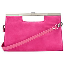 Buy Peter Kaiser Wye Clutch Bag, Berry Online at johnlewis.com