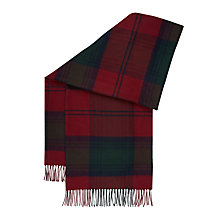Buy Hobbs Beatrice Check Scarf, Burgundy/Multi Online at johnlewis.com