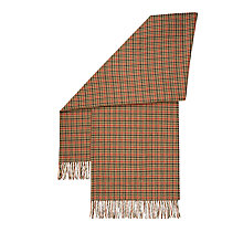 Buy Hobbs Bryony Check Scarf, Camel/Multi Online at johnlewis.com