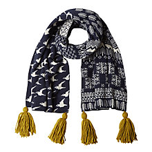 Buy White Stuff Jacquard Bird Scarf, Grey Online at johnlewis.com
