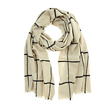 Buy Mint Velvet Woven Check Scarf, Cream Ecru Online at johnlewis.com
