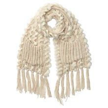 Buy Miss Selfridge Chunky Weave Scarf, Cream Online at johnlewis.com