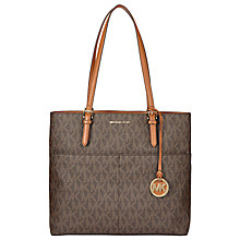 Buy MICHAEL Michael Kors Bedford Large Leather Pocket Tote Bag, Brown Online at johnlewis.com