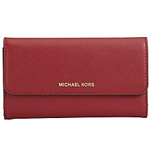 Buy MICHAEL Michael Kors Mercer Large Leather Trifold Purse Online at johnlewis.com