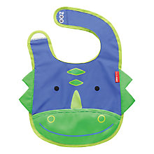 Buy Skip Hop Zoo Dinosaur Bib, Blue/Green Online at johnlewis.com