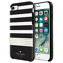 Buy kate spade new york Hybrid Hardshell Case for iPhone 7, Black/White/Gold Online at johnlewis.com