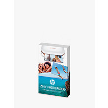 "Buy HP Zink Sticky-Backed Photo Paper, 20 Sheets, 2 x 3"" Each Online at johnlewis.com"