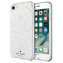 Buy kate spade new york Confetti Dot Hardshell Case for iPhone 7, Clear/Gold Online at johnlewis.com