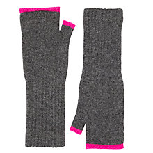 Buy Jigsaw Shona Contrast Turnback Mittens Online at johnlewis.com