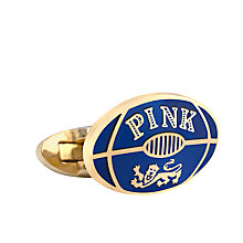 Buy The Lions Collection by Thomas Pink Rugby Cufflinks, Blue Online at johnlewis.com