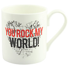 Buy Alice Scott 'You Rock My World' Mug Online at johnlewis.com
