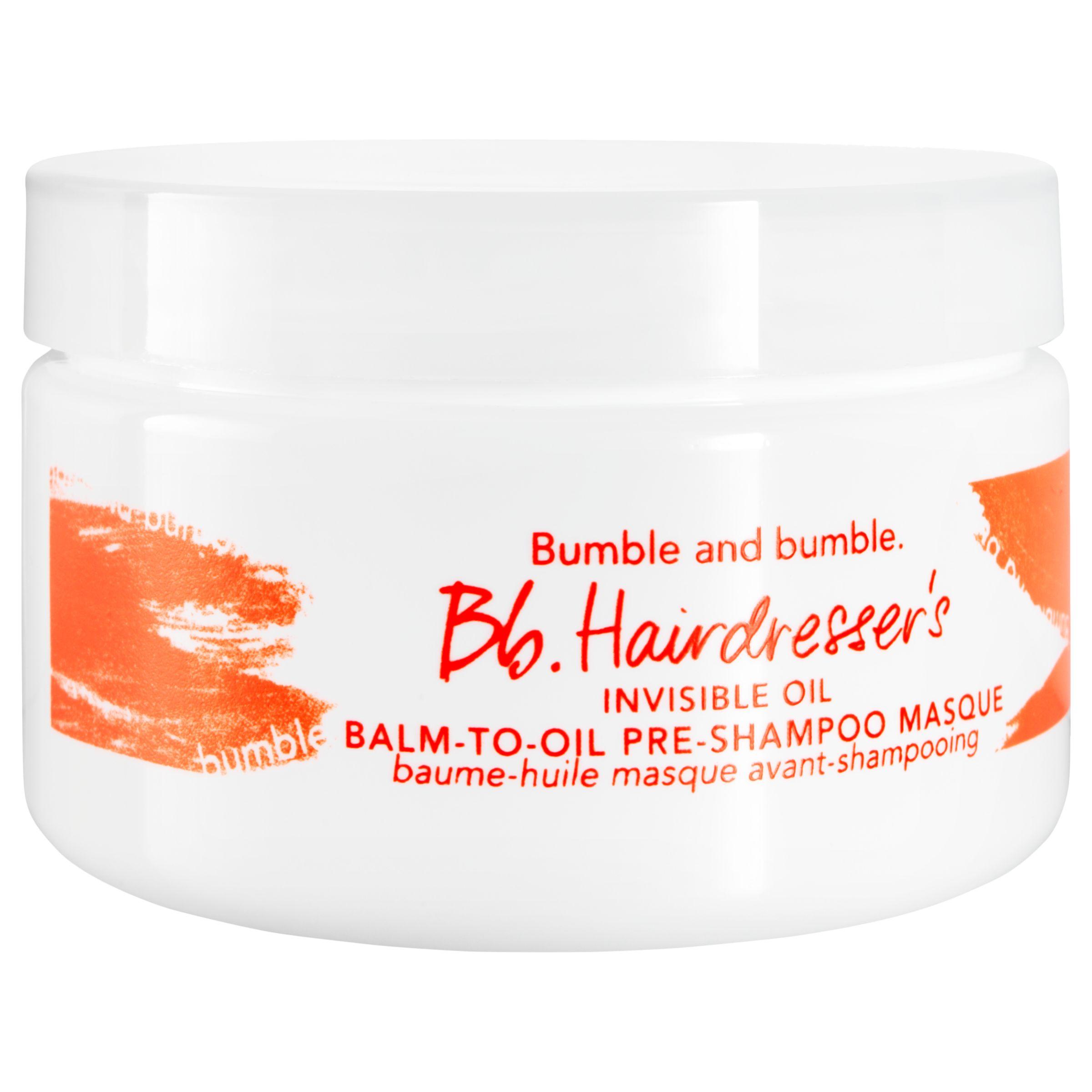 Bumble and bumble Bumble and bumble Bb. Hairdresser's Invisible Oil Balm-to-Oil Pre-shampoo Masque, 100ml