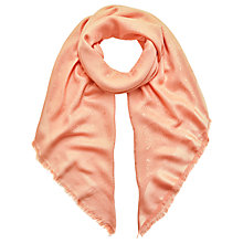 Buy Mulberry Tree Logo Silk Mix Square Scarf, Blush Online at johnlewis.com