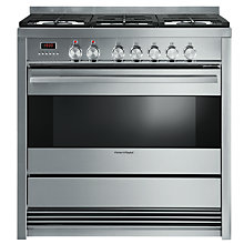 Buy Fisher & Paykel OR90SDBGFX3 Dual Fuel Range Cooker, Stainless Steel Online at johnlewis.com