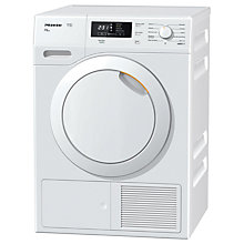 Buy Miele TKB550 Freestanding Heat Pump Tumble Dryer, 8kg Load, A++ Energy Rating, White Online at johnlewis.com