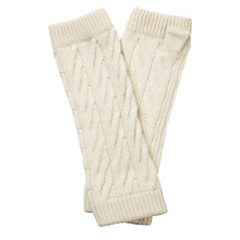 Buy Pure Collection Amber Purist Cashmere Mittens, Natural White Online at johnlewis.com