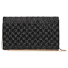 Buy Reiss Mina Beaded Evening Clutch Bag, Black Online at johnlewis.com