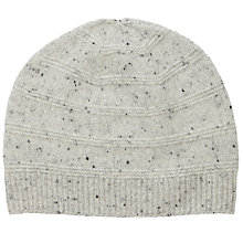 Buy Pure Collection Leslie Cashmere Textured Hat, Heather Grey Fleck Online at johnlewis.com