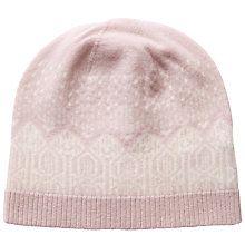 Buy Pure Collection Josie Cashmere Fair Isle Hat, Oyster/Soft White Online at johnlewis.com