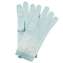 Buy Pure Collection Eva Cashmere Fair Isle  Gloves, Opal/Soft White Online at johnlewis.com
