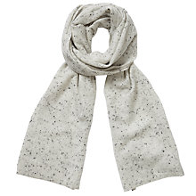 Buy Pure Collection Lauren Cashmere Texture Scarf, Heather Grey Fleck Online at johnlewis.com
