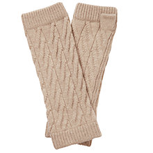 Buy Pure Collection Cassidy Purist Cashmere Mittens, Natural Online at johnlewis.com