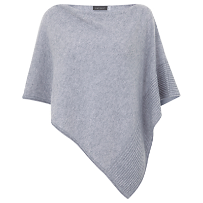 Hygge by Mint Velvet Cashmere Poncho, Silver Grey