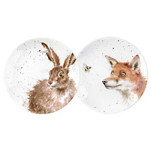 Buy Royal Worcester Wrendale 'Fox & Hare' 16.5cm Plates, Set of 2 Online at johnlewis.com