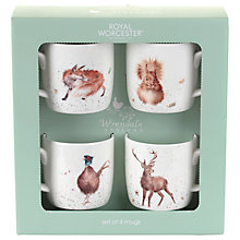 Buy Royal Worcester Wrendale Wild Animals Mugs, Set of 4 Online at johnlewis.com