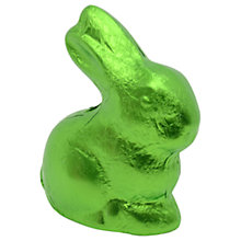 Buy Giant Foiled Milk Chocolate Easter Bunny, Green, 600g Online at johnlewis.com