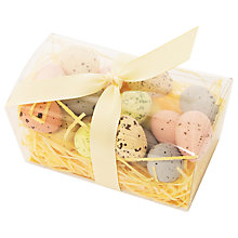 Buy Praline Filled Milk Chocolate Eggs On Edible Grass, 200g Online at johnlewis.com