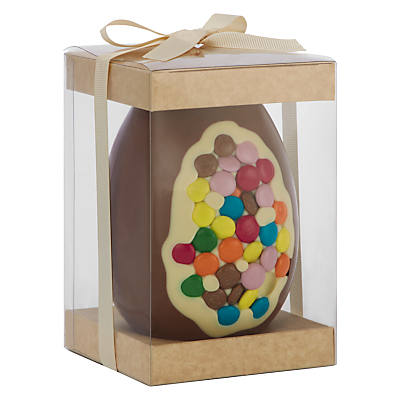 The Cocoabean Company Smartie Inclusion Milk Chocolate Easter Egg, 350g