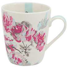 Buy Joules Floral Bone China Mug, Pink Online at johnlewis.com