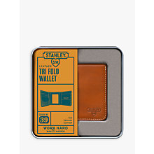 Buy Stanley Tri Fold Leather Wallet, Tan Online at johnlewis.com
