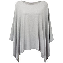 Buy Pure Collection Ariel Soft Poncho, Dove Marl Online at johnlewis.com
