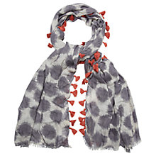 Buy White Stuff Smudgey Spot Scarf, Suqi Grey Online at johnlewis.com