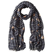 Buy White Stuff Foil Spot Scarf, Grey Online at johnlewis.com