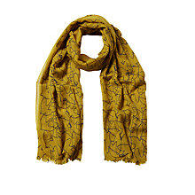 Buy White Stuff Flock Of Birds Scarf, Chartreuse Online at johnlewis.com