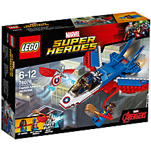 Buy LEGO Marvel Super Heroes 76076 Captain America Jet Pursuit Online at johnlewis.com