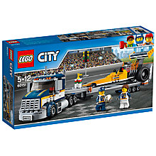 Buy LEGO City 60151 Dragster Transporter Online at johnlewis.com