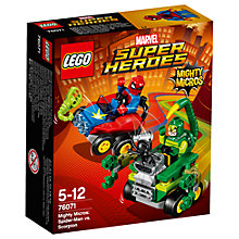 Buy LEGO Marvel Super Heroes 76071 Mighty Micros: Spider-Man Vs Scorpion Online at johnlewis.com
