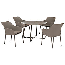 Buy KETTLER Manhattan 4 Seater 'Wrap' Table & Chairs Set, Taupe Online at johnlewis.com